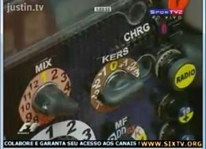 Botón del KERS en Ferrari