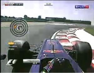 Alguersuari al volante del Toro Rosso