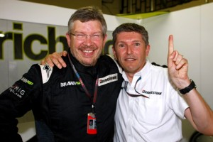Ross Brawn and nikki
