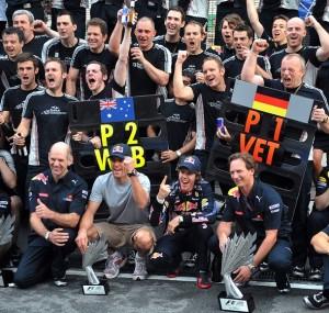 Red Bull Team Celebrate
