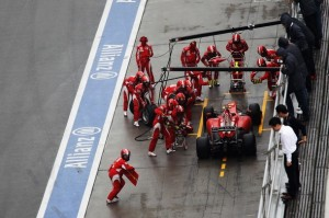 Ferrari en pits en china