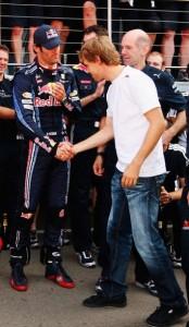 Vettel y Webber en silverstone