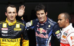 Mark Webber Pole at Belgica