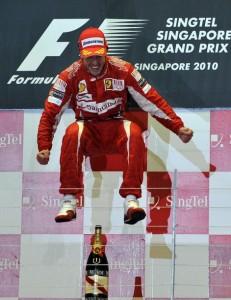 Fernando Alonso en Singapur