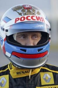Vladimir Putin conduce un Fórmula Uno