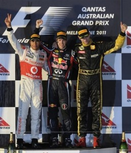 podium australia 2011