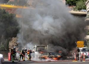 Incendio en Monaco