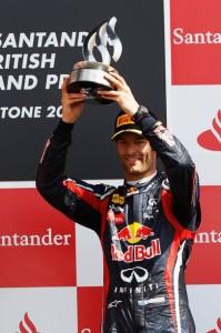 Webber Podium Silverstone
