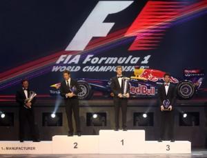 Pilotos F1 en la gala de la FIA