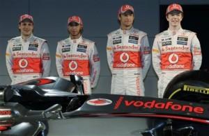 Jenson Button, Lewis Hamilton, Gary Paffett, Oliver Turvey's