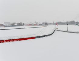 nieve cancela presentacion ferrari