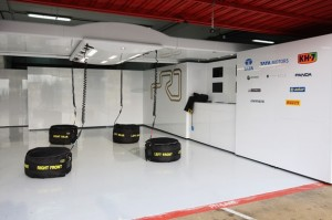 Hispania Racing Team garage