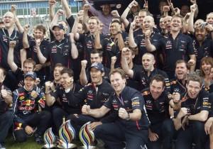 Red Bull celebra