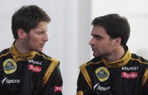Romain Grosjean y Jerome D'Ambrosio