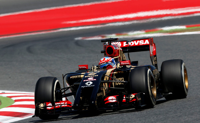 Romain Grosjean Lotus GP España 2014