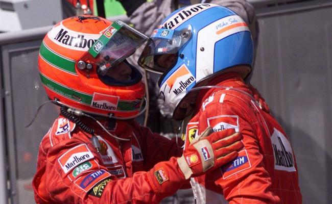 Eddie Irvine y Mika Salo - GP Alemania 1999