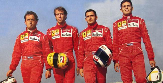 Pierluigi Martini, Luca Badoer, Gianni Morbidelli, Giancarlo Fisichella - Ferrari F1 Test