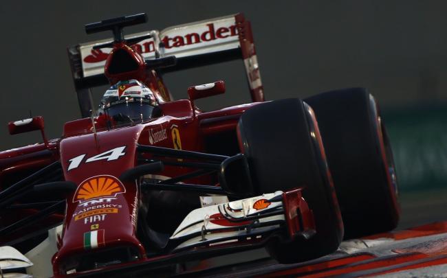 Fernando Alonso 2014 Ferrari Abu Dabi