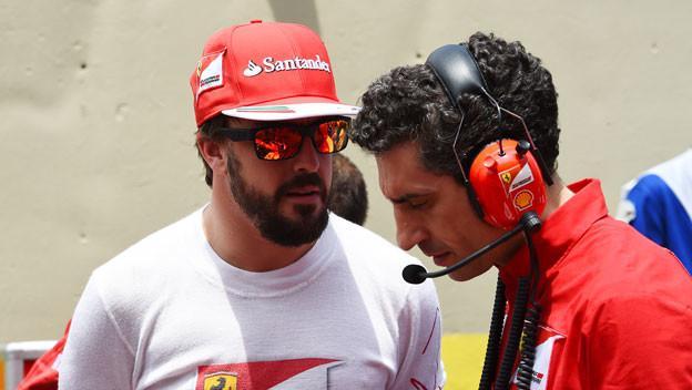 Fernando Alonso y Andrea Stella - 2014