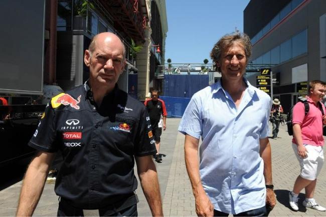 Adrian Newey y Mario Illien