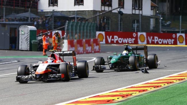 Max Chilton y Marcus Ericsson 2014 Spa