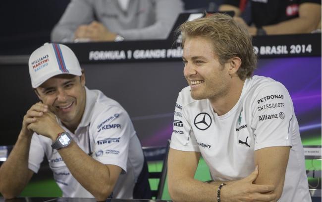 Nico Rosberg y Felipe Massa - GP Brasil 2014