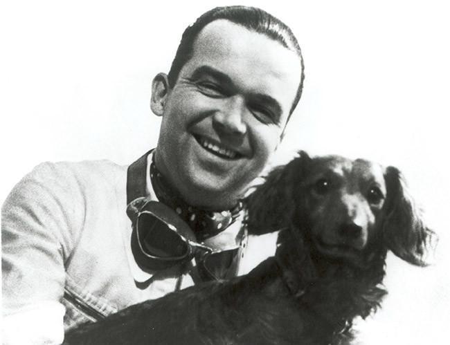 Rudolf Caracciola Mit Hund