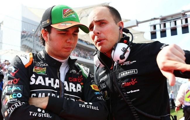 Force India Sergio Perez 2015