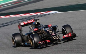grosjean lotus test barcelona