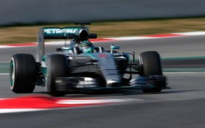 Mercedes test barcelona rosberg