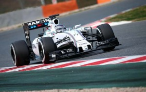 bottas test barcelona williams