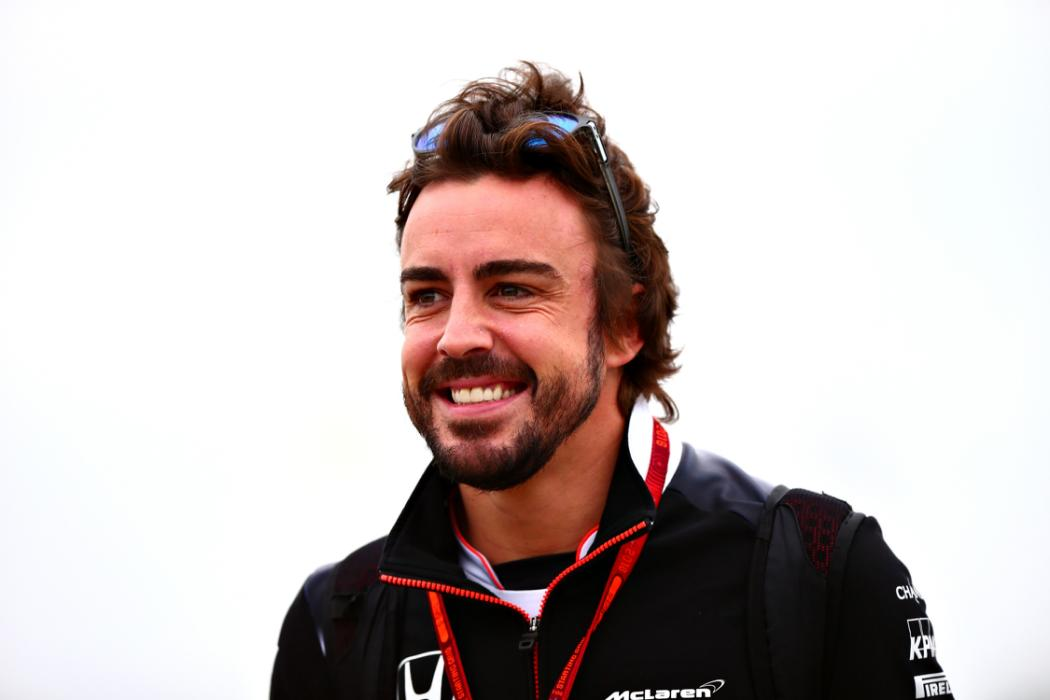 MONTREAL, QC - JUNE 11:  Fernando Alonso of Spain and McLaren Honda arrives at the circuit ahead of final practice ahead of the Canadian Formula One Grand Prix at Circuit Gilles Villeneuve on June 11, 2016 in Montreal, Canada.  (Photo by Dan Istitene/Getty Images)