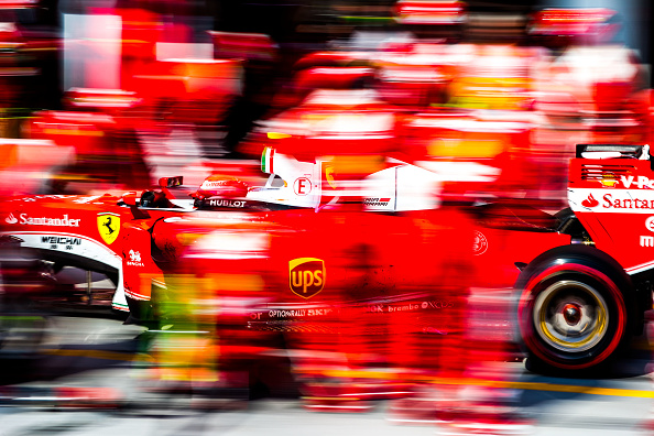 BUDAPEST, HUNGARY - JULY 24:  Kimi Raikkonen of Ferrari and Finland during the Formula One Grand Prix of Hungary at Hungaroring on July 24, 2016 in Budapest, Hungary.  (Photo by Peter J Fox/Getty Images)