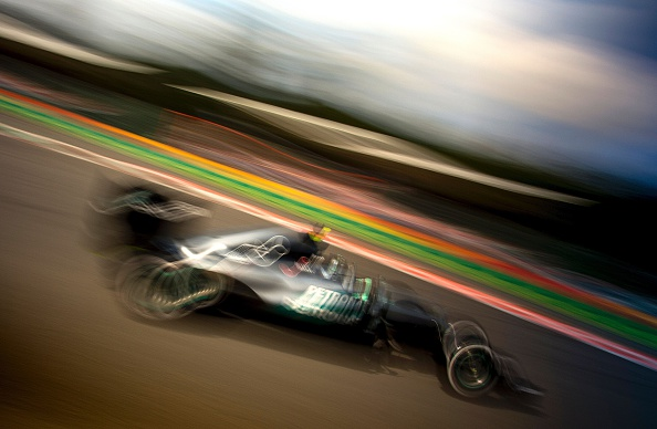 Mercedes AMG Petronas F1 Team's German driver Nico Rosberg competes to win the Belgian Formula One Grand Prix at the Spa-Francorchamps circuit in Spa on August 28, 2016. / AFP / JOE KLAMAR        (Photo credit should read JOE KLAMAR/AFP/Getty Images)