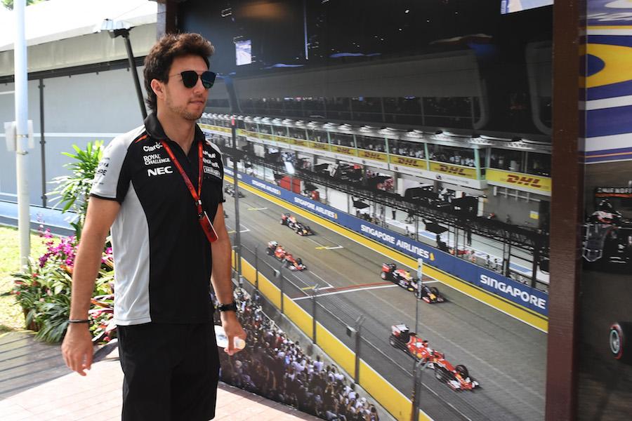 Sergio Perez (MEX) Force India at Formula One World Championship, Rd15, Singapore Grand Prix, Preparations, Marina Bay Street Circuit, Singapore, Thursday 15 September 2016.