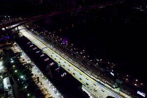 La Fórmula 1 lista para su carrera nocturna en Singapur