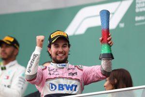 Sergio Checo Pérez con un nuevo podio en Azerbaiyán