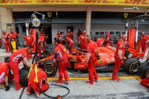 Equipo Ferrari previo al GP de Bahréin