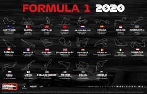 Calendario Fórmula 1 temporada 2020